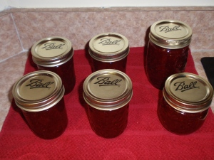 There were actually 7 jars, but I gave one to Mom.