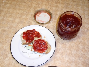 Homemade jam with homemade bread! YUMMY!